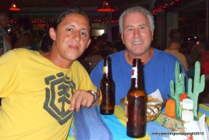 This is Mike and Estaban at our very first Dos Locos fun night.