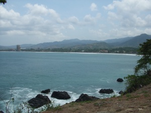 From our scenic stop we can view Jaco Beach in the distance. Many people end up in Jaco, never realizing there is another beach area not far away just past the fishing town of Quepos.