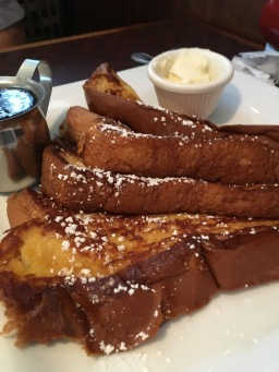 Hubby loves his French Toast. Thanks Peachtree Diner,
