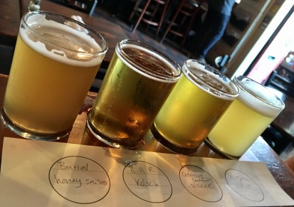 And beer flights...
